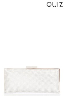 Quiz Diamanté Chain Clutch Bag