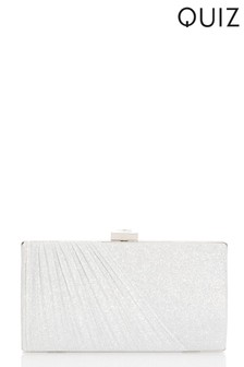Quiz Shimmer Jewel Clip Clutch Bag