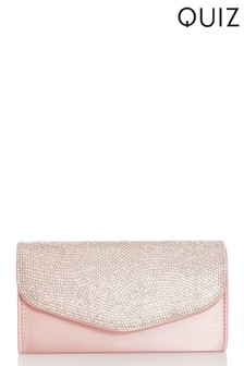 Quiz Jewel Stone Clutch Bag