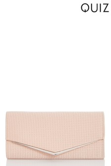 Quiz Square Textured Envelope Bag