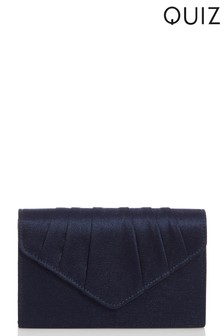 Quiz Satin Pleat Envelope Bag