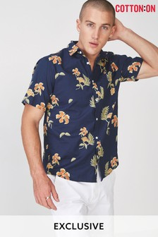 Cotton On Floral Short Sleeve Shirt