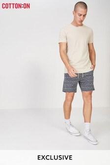 Cotton On Stroke Ditsy Print Swim Shorts
