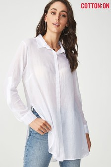 Cotton On Longline Cotton Shirt