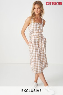 Cotton On Button Through Midi Dress