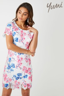 Yumi Blossom Print Lace Tunic Dress