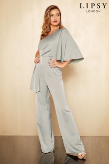 Lipsy One Shoulder Drape Jumpsuit