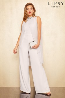 Lipsy Jewelled Neck Cape Jumpsuit
