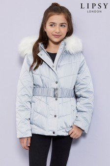 Lipsy Girl Belted Padded Coat