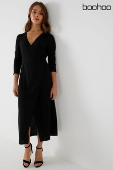 9bbb4546689 Boohoo Jersey Wrap Round Dress