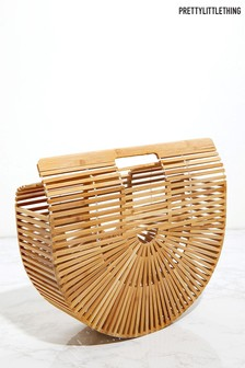 Petite pochette PrettyLittleThing à structure en bois