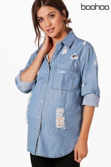Boohoo Maternity Denim Shirt