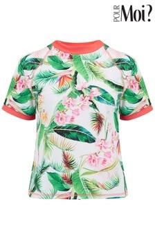 Pour Moi Tropics Short Sleeve Rash Vest