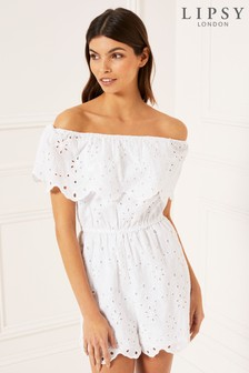 Lipsy Bardot Beach Playsuit