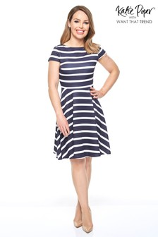Want That Trend Striped Skater Dress