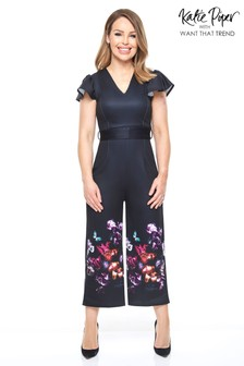 Want That Trend Floral Print Jumpsuit