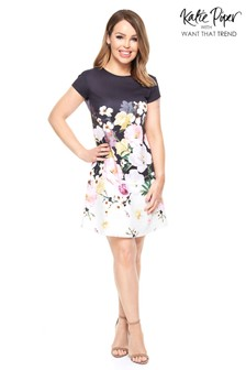 Want That Trend Floral Shift Dress