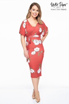 Want That Trend Floral Wrap Midi Dress