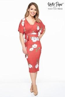 Vestido a media pierna con diseño floral de Want That Trend