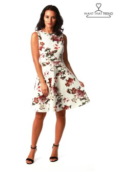 Want That Trend Floral Swing Dress