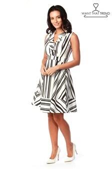 שמלת סקייטר עם מלמלה של Want That Trend