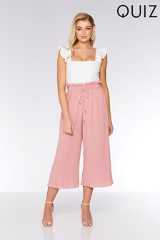 Quiz Pleated Culotte Trousers