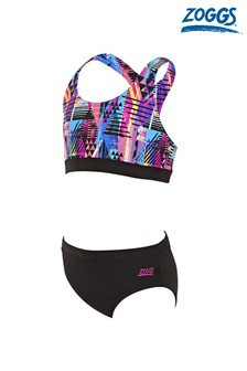 Zoggs Kids Labrynth Muscle 2 Piece Bikini Set