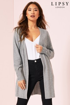 Lipsy Button Cuff Volume Sleeve Cardigan