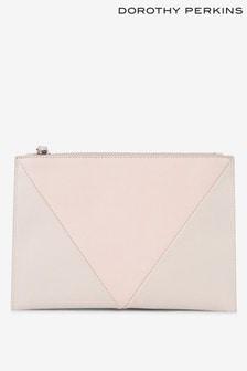 Dorothy Perkins V Panel Wristlet Clutch Bag