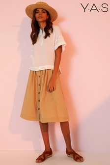 Y.A.S Button Skirt