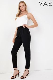 Y.A.S Tailored Trouser with Elastic Waist Detailing