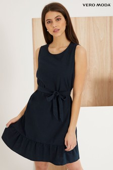 Vero Moda Sleeveless Linen Dress