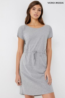 Vero Moda Short Sleeve Drawcord Dress