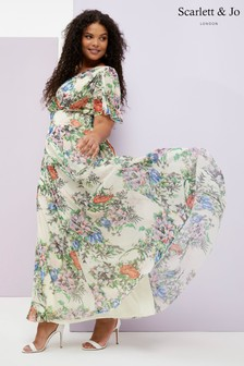 Scarlett & Jo Curve Printed Maxi Dress