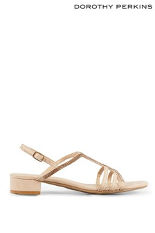 Dorothy Perkins Embellished Low Block Heel Sandals