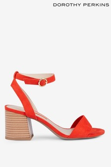 Dorothy Perkins Block Heeled Open Back Sandals