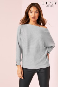 Lipsy Button Cuff Batwing Jumper