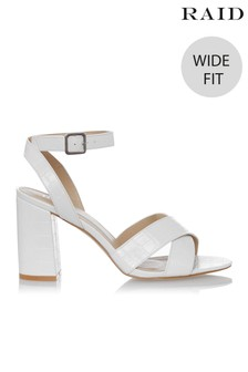 Raid Wide Fit Block Heel Sandal