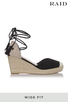 Raid Wide Fit Espadrille Tie Up Sandal
