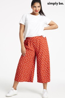 Simply Be Spot Print Crepe Culottes
