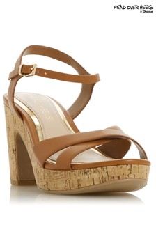 Head Over Heels Cross Strap Block Heel
