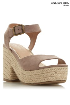 Head Over Heels Jute Cross Strap Wedge