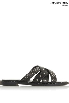 Head Over Heels Mini Stud Cross Strap Sandals