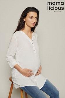 Mamalicious Maternity Button Down Tunic