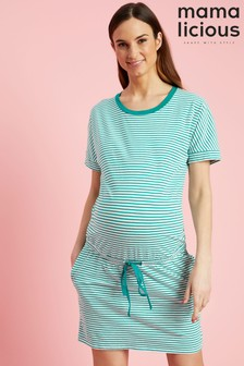 Mamalicious Maternity Stripe Print Dress