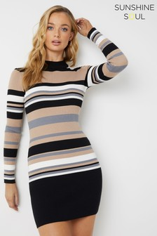 Sunshine Soul Striped Bodycon Dress