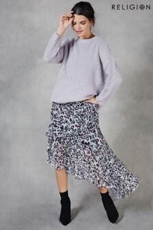 Religion Stage Midi Skirt