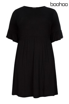 Boohoo Curve Smock Dress