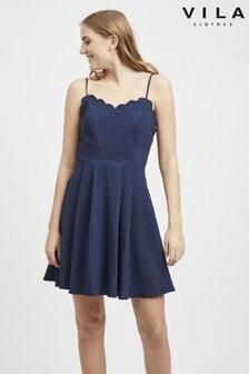 Vila Strappy Fit-Flare Dress