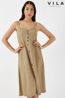 Vila Strappy Midi Sundress